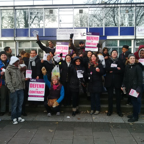 Picket line at Brixton today